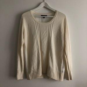 Banana republic crewneck Sweater Long Sleeve ivory